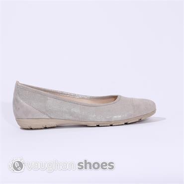 gabor ballerina pump weaved upper taupe vaughan shoes. Black Bedroom Furniture Sets. Home Design Ideas