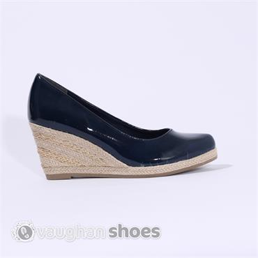 marco tozzi wedge shoe navy vaughan shoes ireland
