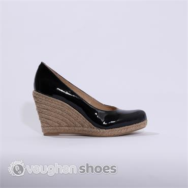 pedro anton higher espredille wedge black vaughan