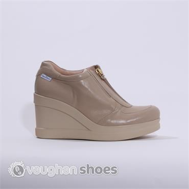 marco moreo high wedge with zip clara beige vaughan